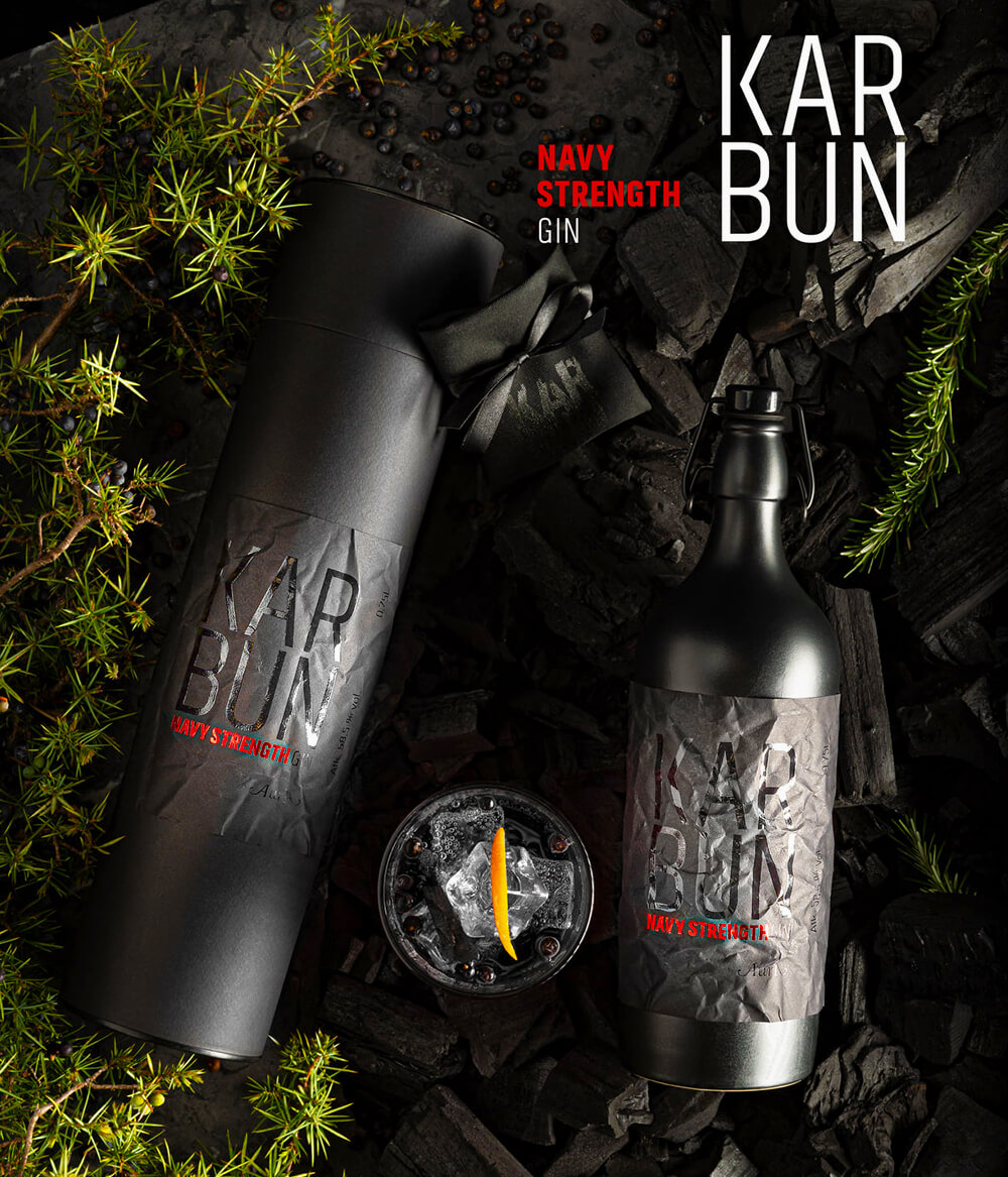 Aura-Gin-Karbun-Navy-Strength-Tonic-Carbon-Kohle-Aktivkohle-Kroatien-Istrien
