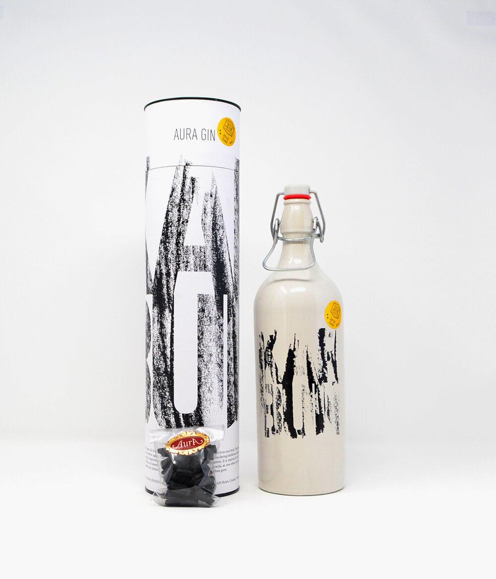 Aura Gin Karbun mit Kohle