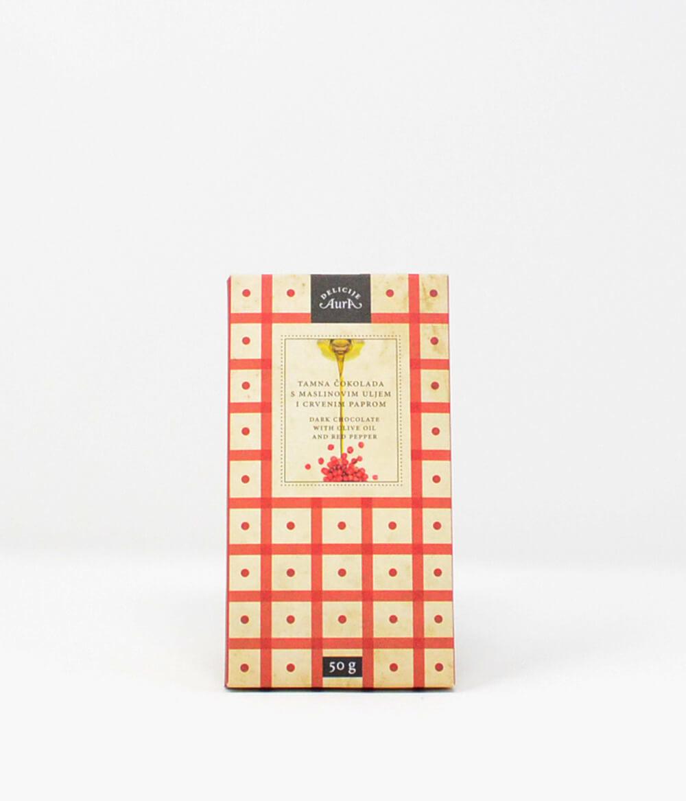 Aura Schokolade Roter Pfeffer