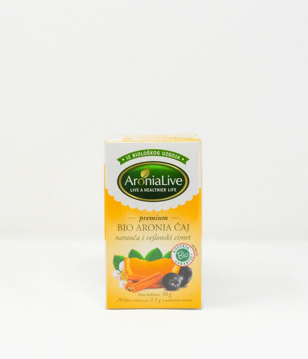 Bio Aronia Tee mit Orange Ceylon-Zimt