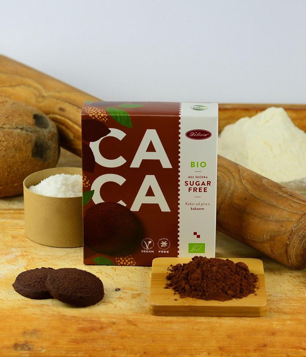 Delicija Zuckerfreie Bio Kekse Kakao Aura (2)