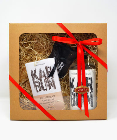 Geschenkset Aura Gin Karbun Schokolade