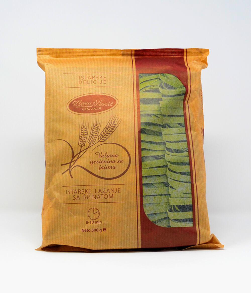 Pasta Tagliatelle Spinat 500g