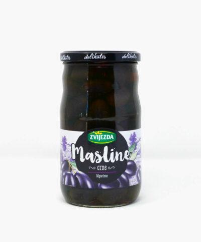 Schwarze Oliven aus Kroatien Masline Crne Odgorcene Zvijezda 400g